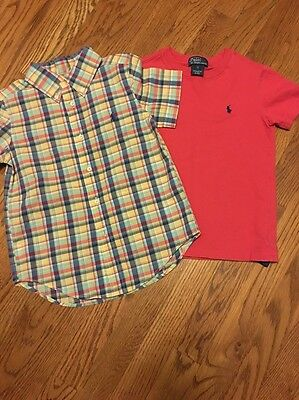 Boys Polo Ralph Lauren Shirts (2) Size 4/5 Perfect For Spring