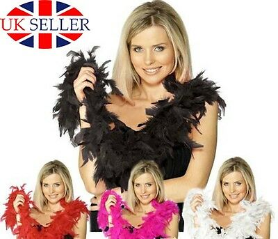 Feather Boa Hen Night Party Acce Gatsby 20S Fancy Dress Fluffy Burlesque WomenUK