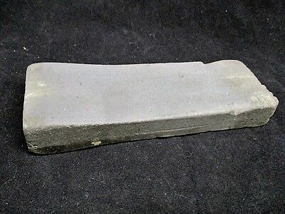 """Vintage Duoble Grit Sharpening Hone Stone Gray Color Used 6"""" x 2"""" x 3/4"""""""