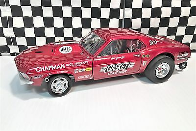 """GMP """"Ohio"""" George Montgomery's 1969 Mustang """"Mr Gasket"""" Gasser L E 1:18 Boxed"""