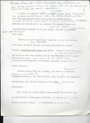 correspondence letter from around 1978, 36 pages from woman kansas city interest