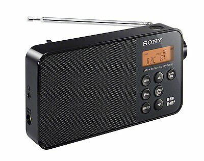 New Sony XDRS40 Portable Digial Clock Radio with DAB/DAB+/FM Tuner in Black