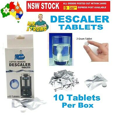 Coffee Descaler Espresso Machine Maker Cleaner Cleaning Descaling 10 x Tablets