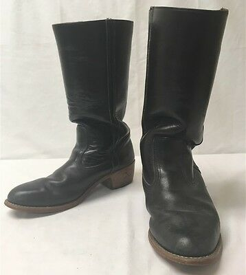 Dexter Men's sz 8M Black Brown Leather Mid Calf Heeled Boots