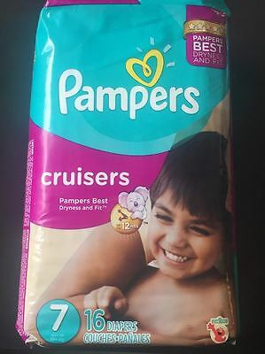 pampers cruisers taille 7, 2 paquet neuf de 16 couches adult baby abdl Parfumé