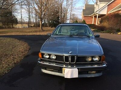 1987 BMW 6-Series L6 Beautiful, well maintained 1987 BMW L6 - same owner since 1993
