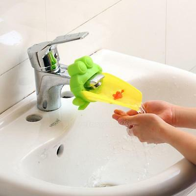Kid Hand Washing in Bathroom Sink Faucet Extender For Helps Children Toddler
