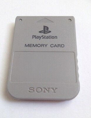 OFFICIAL SONY PS1 - PLAYSTATION MEMORY CARD - Grey - SCPH - 1020