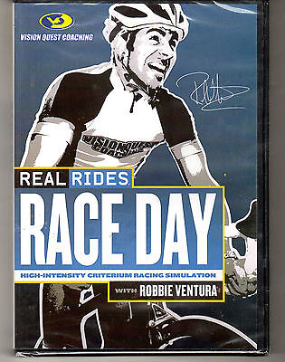 REAL RIDES RACE DAY with ROBBIE VENTURA Indoor Cycling Training DVD New Sealed
