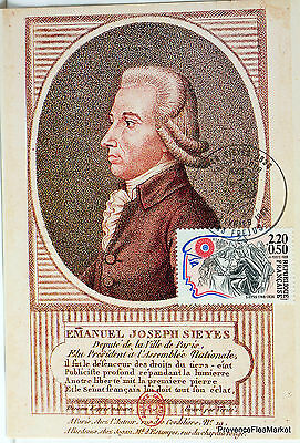 Yt 2567 EMANUEL JOSEPH SIEYES   FRANCE  CARTE MAXIMUM 1° JOUR FCP