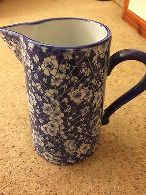 Large Blue And White London Pottery Jug