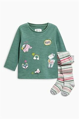 New! Next! Baby Girls set: top with tights 12-18 months