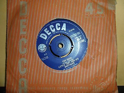 "Little Tony And His Brothers.too Good.decca.7"" Vinyl Single.45Rpm"