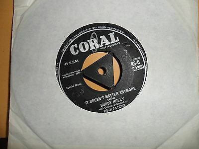 "Buddy Holly.it Doesn't Matter Anymore.coral.7"" Vinyl Single.45Rpm"
