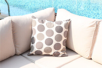 Retro Designer Cotton Spotty Striped outdoor Cushions Scatter Zipped Cushions