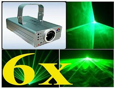 Lot of 6 -- 30mW Green Laser Light Show DJ For Disco Party CLUB 532nm DPSS