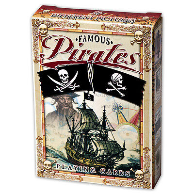 Famous Pirates set of 52 playing cards + Jokers (ix)