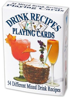 Drink Recipes (Cocktails) set of 52 playing cards (ix)