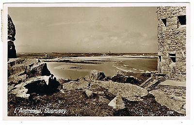 1948 Guernsey Postcard of L'Ancresse with 2 x 1d Liberation Stamps