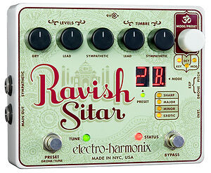 Electro-Harmonix Ravish Sitar Guitar Effects Pedal with Australian Power adapter