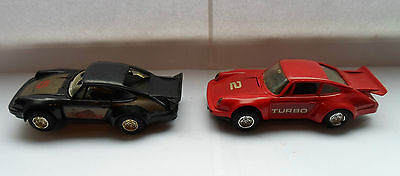 3 scalextric cars .2 Porsche + 1 BMW ..spares / repairs