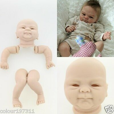 Exquisite Silicone Reborn Doll Kit Handmade DIY Mold Unpainted Blank Dolls Gift