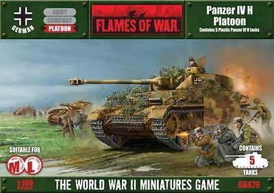Flames of War Wargame Model Kit - Panzer IV H Platoon - 1:100 Scale - GBX79
