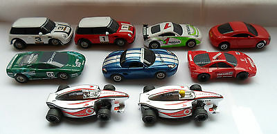 job lot of 9 micro scalextric cars..working condition ..tested