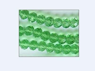 6mm green with color Crystal Faceted Gems Loose Beads 98pcs