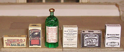Set Of Hand-Made Dolls' House 1/12Th Scale Victorian Cleaning Items