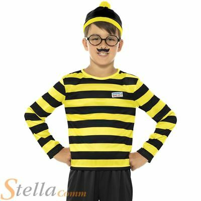 Boys Odlaw Where's Wally Costume Adult Fancy Dress Book Week Outfit