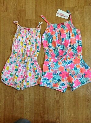 Two Girls Jumpsuit Age 3-4 Years. One BNWT.