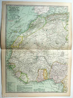 Original 1902 Map of Northwestern Africa - A nicely detailed Color Lithograph
