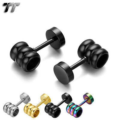 TT Stainless Steel Fake Ear Plug Earrings (BE217) NEW