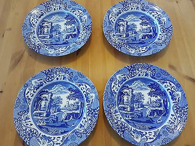 Spode Design Italian Blue And White Large Bowls X Four Black Stamp