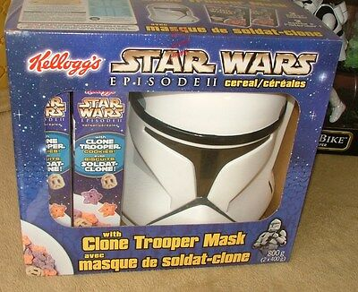 Kellogg's Cereal with Star Wars Clone Trooper mask (MIB)