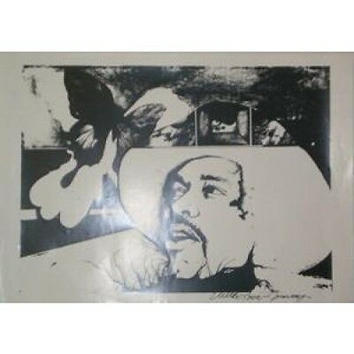 JIMI HENDRIX EXPERIENCE Sketch POSTER 60 X 45 Black And White Sketch Style