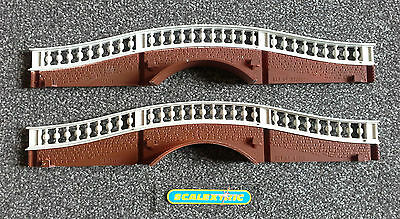 Scalextric Tri-ang Vintage 60's A210 Hump Back Bridge Sides Pair (PERFECT) Brown