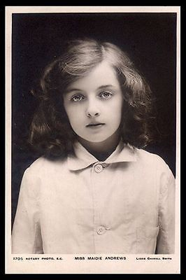 MAIDIE ANDREWS (1893-1980) Edwardian Child Actress then films Signed page & PC p