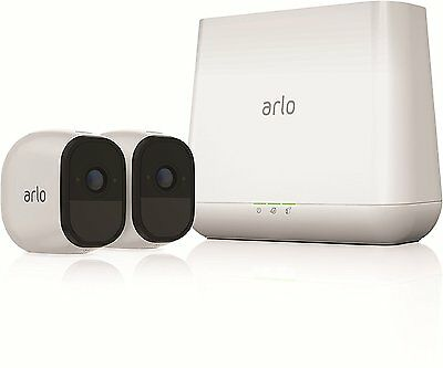 Arlo Pro Security System, 2 Rechargeable wireless HD Cameras Audio, Night Vision