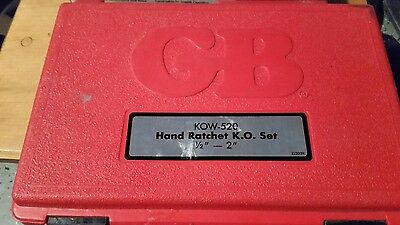 "GB Gardner Bender KOW-520 1/2"" thru 2"" Conduit Knockout Punch Driver Set"