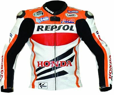 Honda Repsol Motorbike Racing Leather Jacket Motorcycle Cowhide Leather Jacket