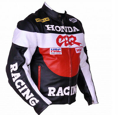 Honda CBR Motorbike Racing Leather Jacket Motorcycle Cowhide Leather Jacket