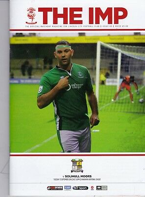 Lincoln City v Solihull Moors (National League) 13.09.2016