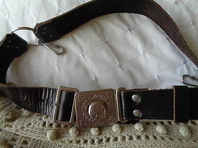 Vintage leather Girl Guide BELT   be prepaired Scouting Guiding