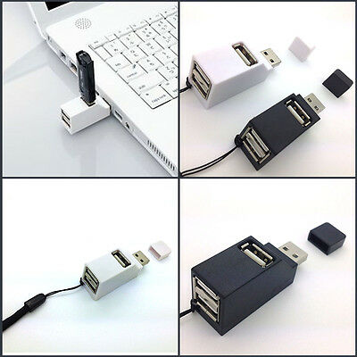 1 Pratico 3 Porte USB 2.0 Hub Mini Adattatore Splitter per PC Notebook Portatile
