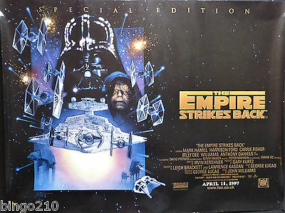 Star Wars The Empire Strikes Back Original 1997 Re-Release Quad Poster