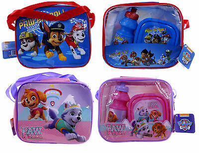 New Official Paw Patrol Childrens Lunch Bag School Bag Boys Girls Box Bag