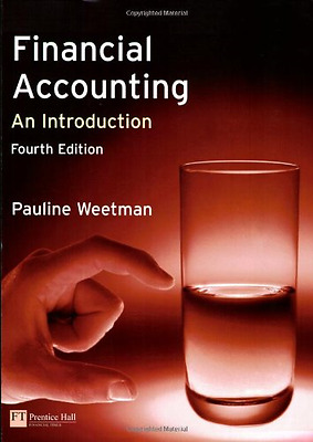 Financial Accounting: an Introduction, Good Condition Book, Weetman, Prof Paulin