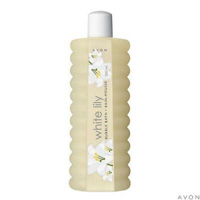 New Avon White Lilly Bubble Bath 500ml x2 Must See New